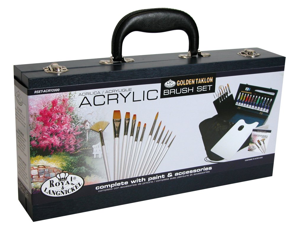 Royal & Langnickel RSET-ACRY2000 Gold Acrylic Painting Box Set by Royal & Langnickel