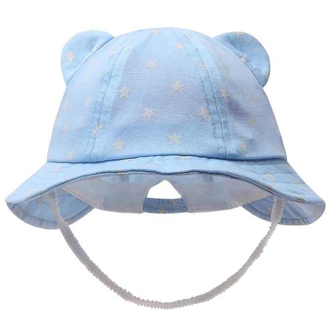 03a217ce2e7 vivobiniya Newborn Boy Summer Hats Baby Sun Hats Little BearToddler Hat 0-2y