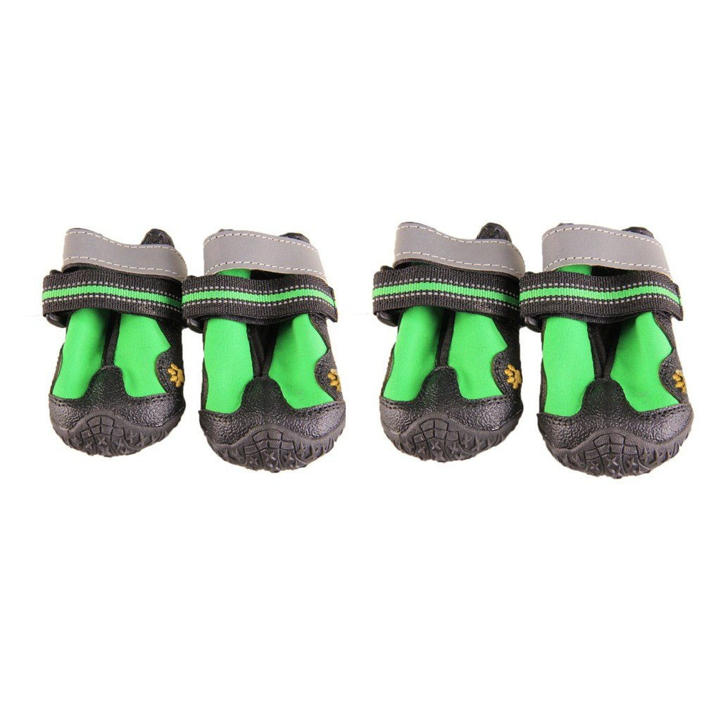 V-Hao Adjustable Dog Boots Non-Slip Tear-Resistence Pet Snow Booties for Dog Waterproof Paw Protectors Durable Dog Hiking Shoes Outdoor