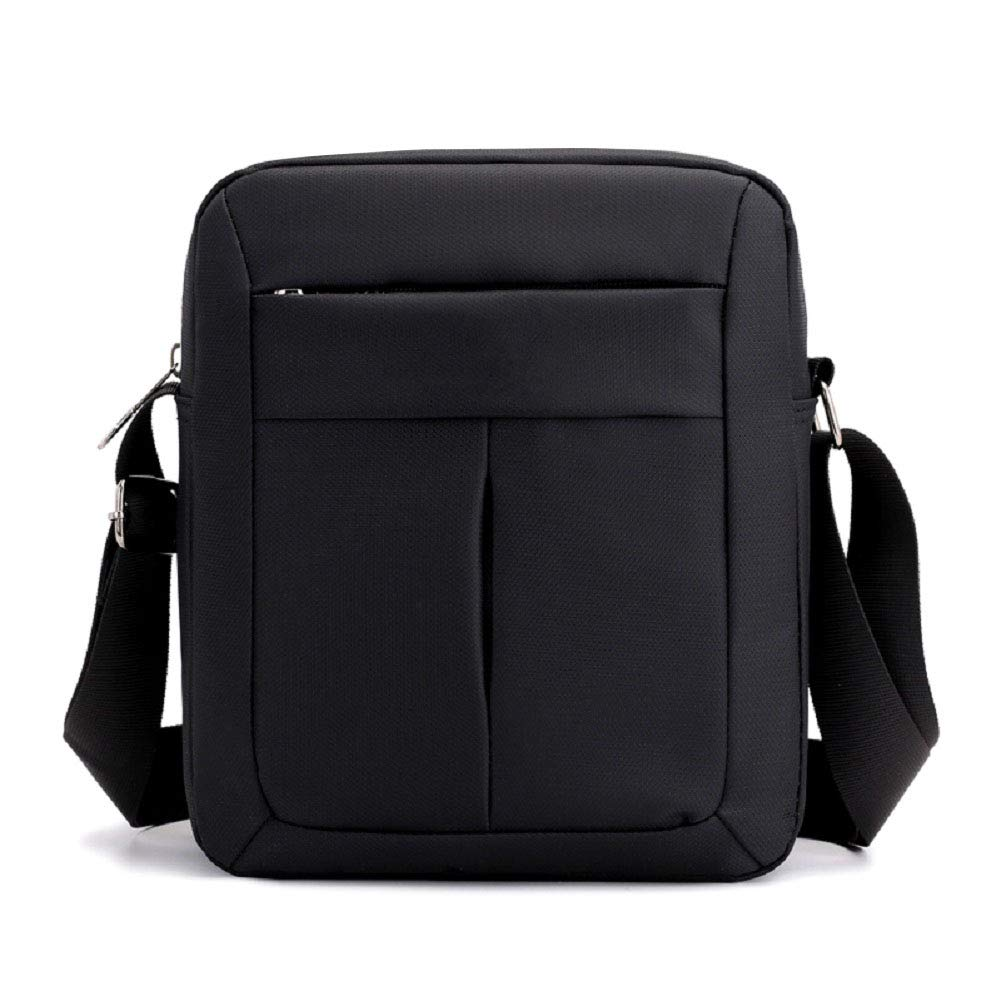 Men's Messenger Bag Small Crossbody Shoulder Bags Travel Bag Man Purse Casual Sling Pack for Work Business College (Black)