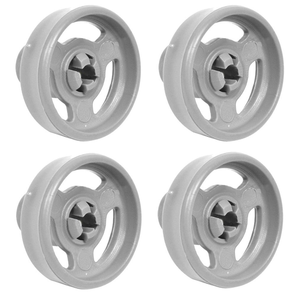 Genuine Lower Basket Wheels & Axles For Indesit IDL40 Dishwasher (Pack of 4)