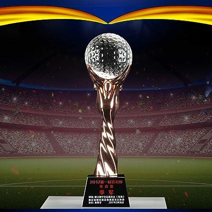 Trofeo Bola De Cristal Personalizada Bola De Gama Alta Fútbol NBA Baloncesto Juego De Golf Letras