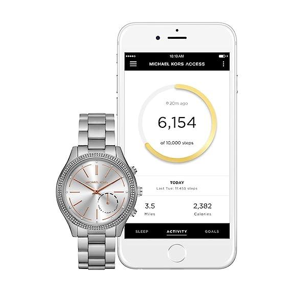 Michael Kors Access Hybrid Silver Slim Runway Smartwatch ...