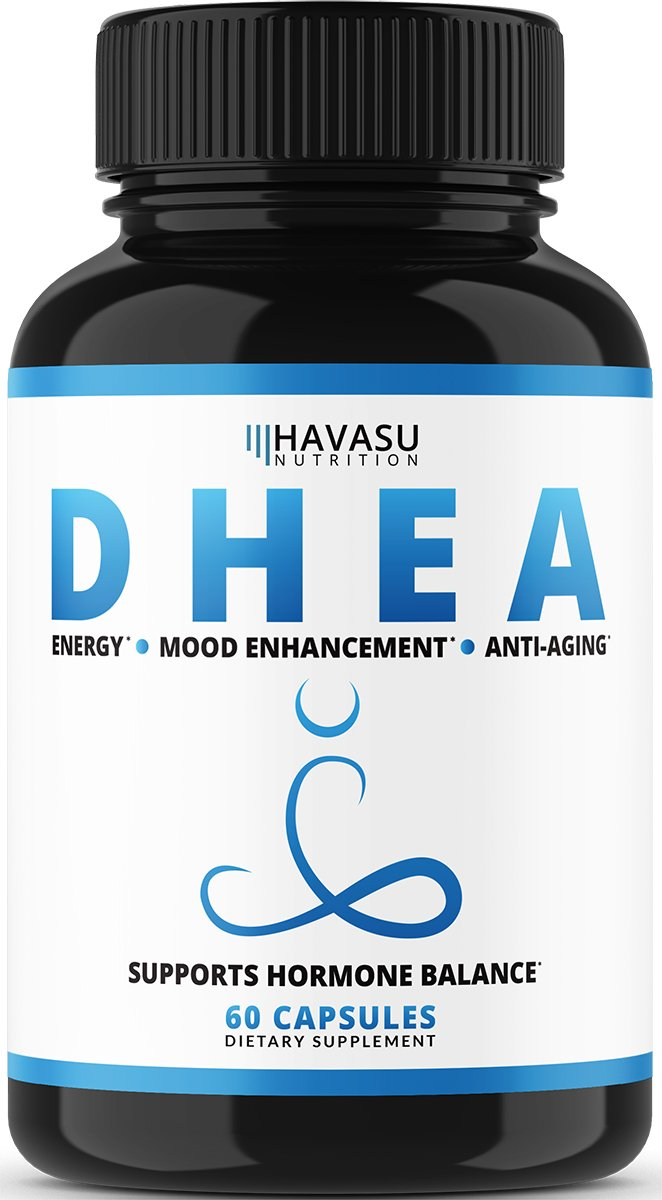Havasu Nutrition DHEA Extra Strength Designed for Promoting Youthful Energy, Balance Hormone Levels & Supports Lean Muscle Mass, Non-GMO, 50 mg Supplement for Men & Women, 60 Capsules by Havasu Nutrition