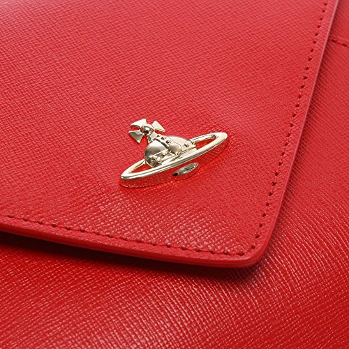 Vivienne Westwood sacchetto rosso saffiano pelle busta ii Red Leather