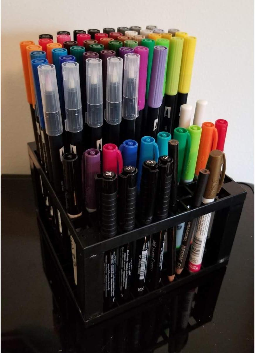 Pinceles de Maquillaje marcadores Pinceles l/ápices de Colores luosh Pencil Holder Plastic Pen Desk Stand Organizador de Almacenamiento con 96 Orificios para bol/ígrafos