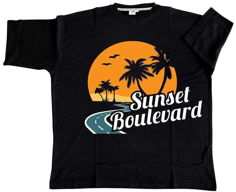 Honeymoon Herren T-Shirt Sunset Boulevard in Übergröße von: Amazon.de:  Bekleidung