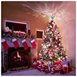 Christmas Tree Topper Star LED Lights Kaleidoscope Projection Holiday Decoration