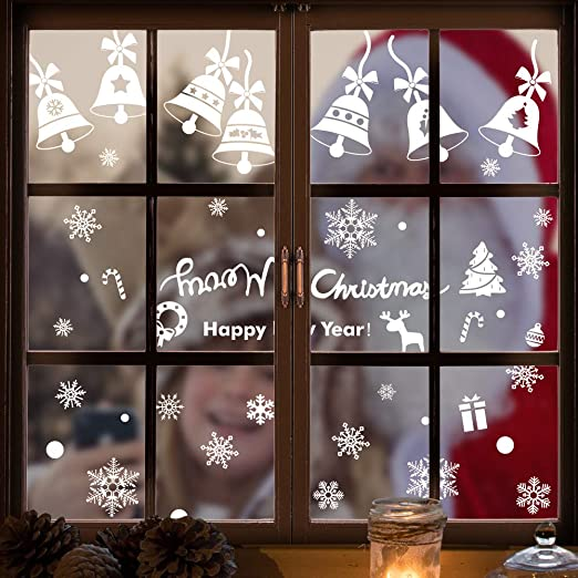CGSignLab 30x20 Holiday Decor 5-Pack Oh Joy Green Window Cling