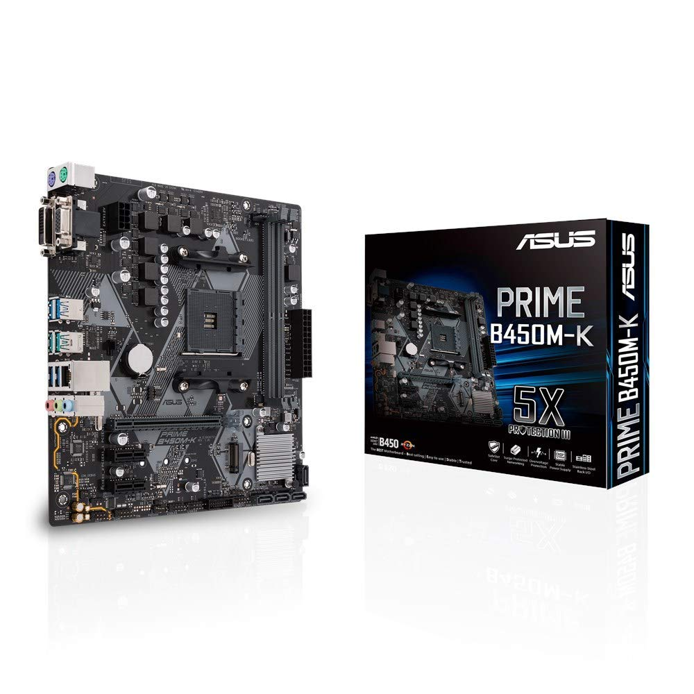 Asus PRIME B450-PLUS AMD AM4 B450 mATX - Placa con iluminación LED ...