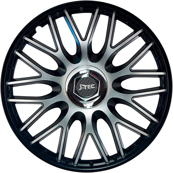 Amazon Com J Tec J14594 Hub Caps Orden Black 14 Inches Automotive