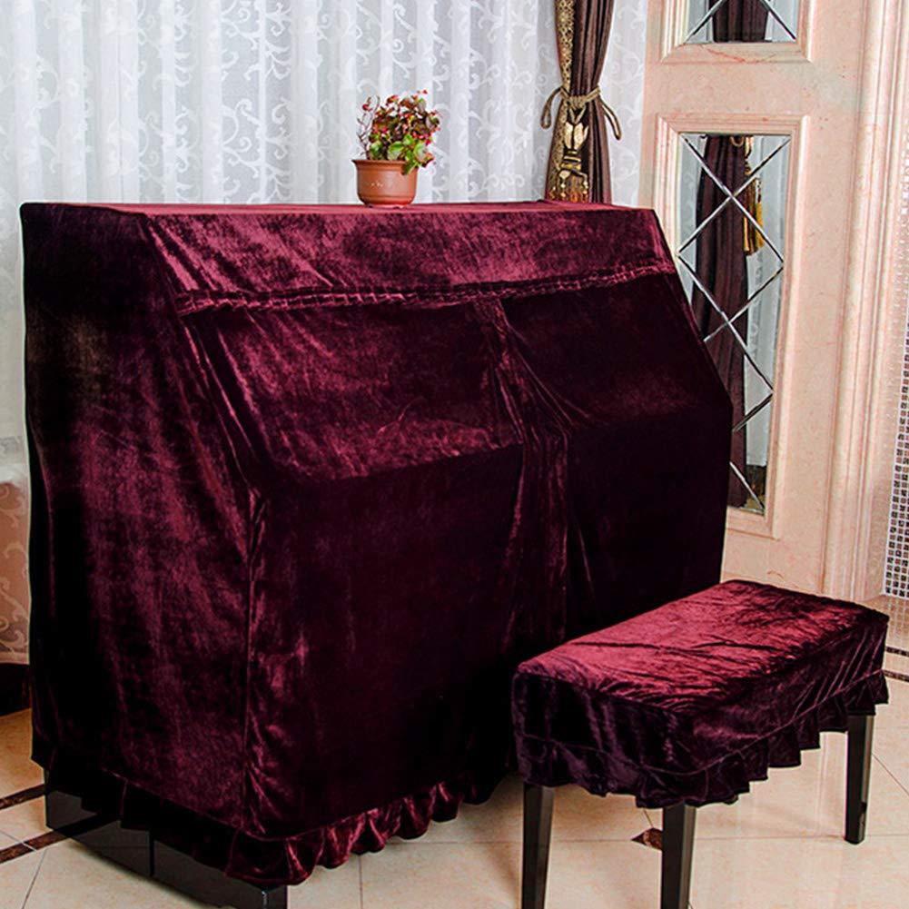 4# Liscio Wine Red /con Telo di Copertura Elegante Panno Protezione della Tastiera per 88/Chiavi Faderr Piano di Velluto/ Antipolvere