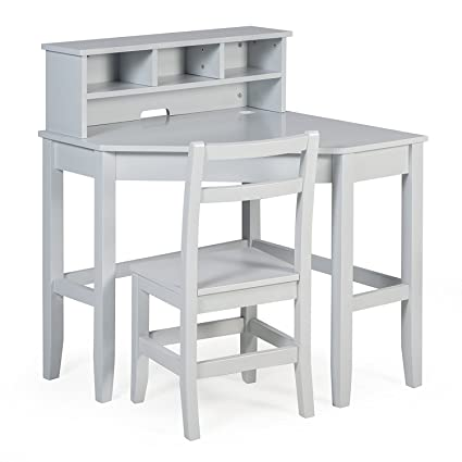 Juvenile Kids Solid Wood Compact Corner Storage Desk With Reversible Hutch  Chair And Our Exclusive Ebook
