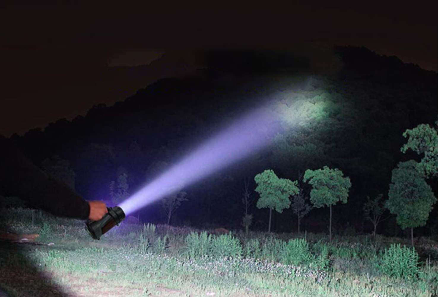 BAJIE Flashlight Super Bright Powerful Usb Led Flashlight Searching Torches 2 Side Night Light Lamp Hand Camping Lantern Rechargeable Battery C-type