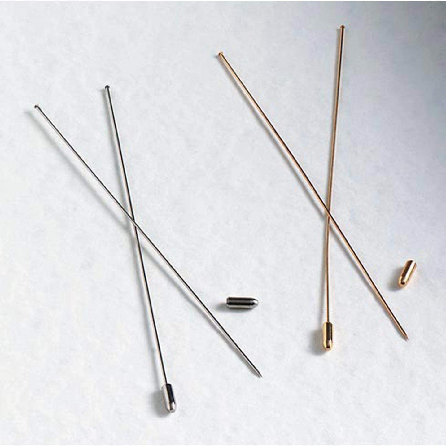 """Lead Free Hat Pins 5/"""" 6/"""" Gold Silver Jewelry Finding DIY Craft Stopper 12pcs//Pkg"""