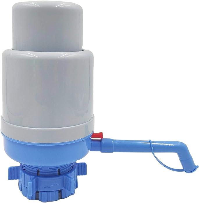 Manual Water Pump for 5 Gallon Bottle, Exclusive Flow-Stop 5 Gallon Water Pump Dispenser, Commercial Grade, 100% BPA Free