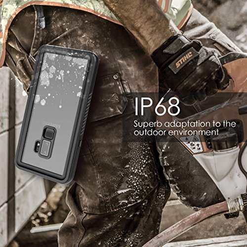 Galaxy S9 Plus Waterproof Case, FugouSell Full Sealed IP68 Snowproof Dustproof Shockproof Heavy Duty Protection Underwater Case with Screen Protector / Touch ID for Samsung Galaxy S9 Plus - Black