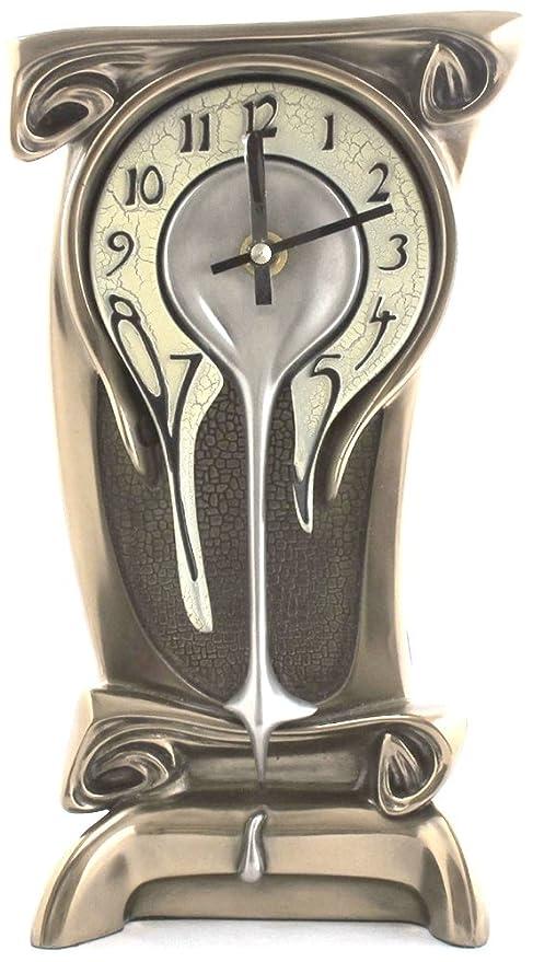 Acabado en bronce fundición reloj de mesa escritorio mesa Dalí