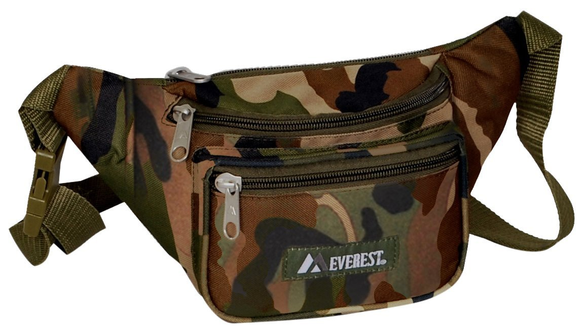 Everest C044KD-Camo Woodland Camo Waist Pack, Woodland Camo, One Size EVFDS