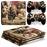 Ps4 Pro Playstation 4 Console Skin Decal Sticker Sniper Camouflage + 2 Controller Skins Set
