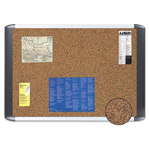 Master Vision MVI050501 Tech Cork Board, 36x48, Silver/Black Frame by MasterVision