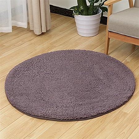 Fluffy Rugs Carpet Non-slip Area Round Rug Mat Home Decor Bathroom Floor Mat UK
