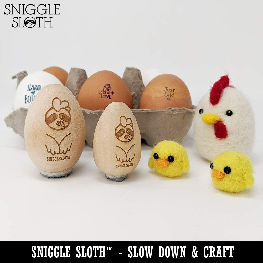 Hot Off The Nest Chicken Egg Rubber Stamp 3//4 Inch Small