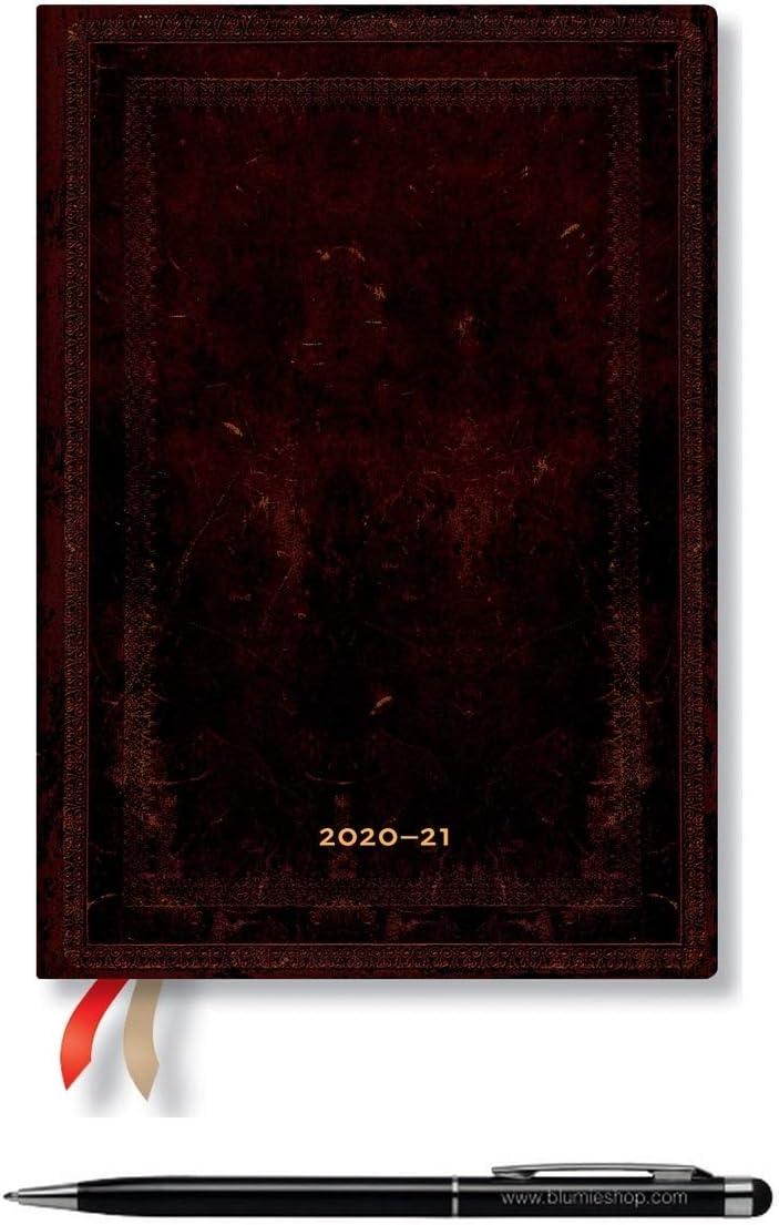 1 Stylo Stylus Touch Blumie Lot Agenda Paperblanks Noir Marocain Uni Fran/çais Septembre 2020 /à Septembre 2021 1 Semaine sur 2 Pages Midi Horizontal