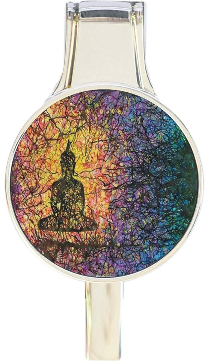 Buddha Meditation Everything Purse Hanger Handbag Hook Retractable Folding