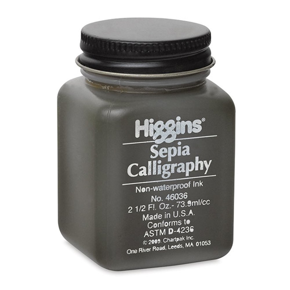 Higgins Sepia Calligraphy Ink 2.5 Oz CHARTPAK 4336947683 BA03960036-001
