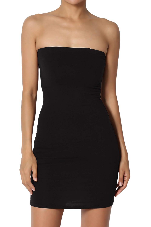 TheMogan Sleeveless Spaghetti Strap Long Cami Slip Short Mini Bodycon Dress ST5552