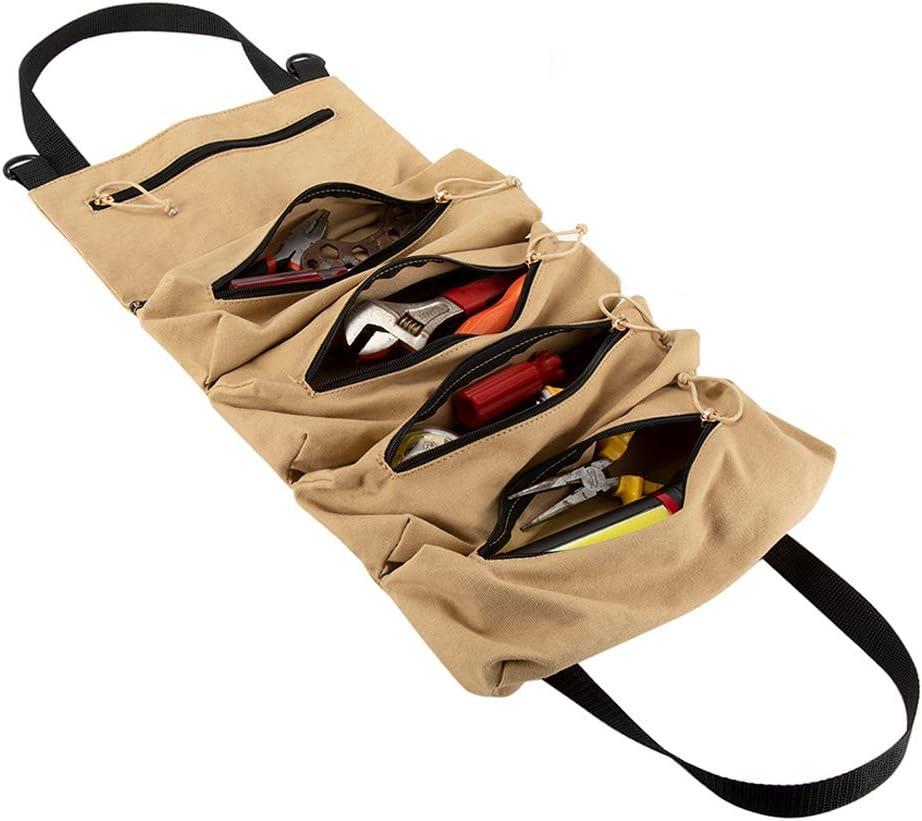 moto Sac /à outils en toile avec 5 poches /à fermeture /éclair pour voiture /électricien
