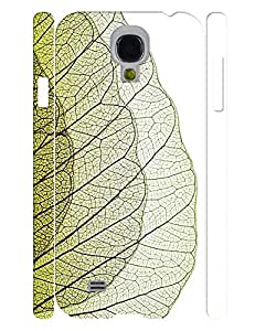 Individualized Theme Smart Phone Case With Green Leaf Vein Pattern Snap On Case Cover for Samsung Galaxy S4 I9500