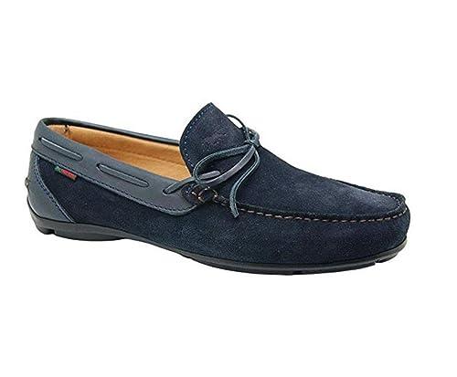Scarpe uomo Mocassini TROTTERS in camoscio BLU 87250-V8-MARINO: Amazon.es: Zapatos y complementos