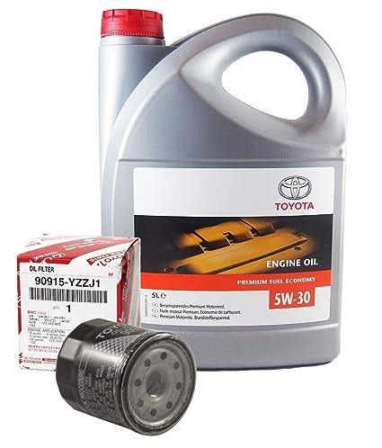 Pack Duo Genuine 5 litros aceite de motor Toyota 5W30 PFE ...
