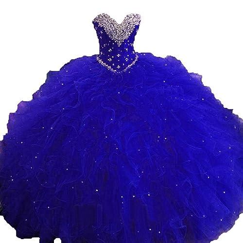 Royal Blue Quinceanera Dress: Amazon.com