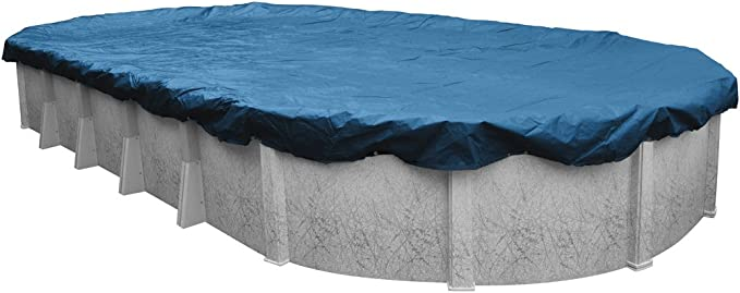 Pool Mate 351833 4pm Heavy Duty Blue Winter Pool Cover For Oval Above Ground Swimming Pools 18 X 33 Ft Oval Pool Garden Outdoor Amazon Com