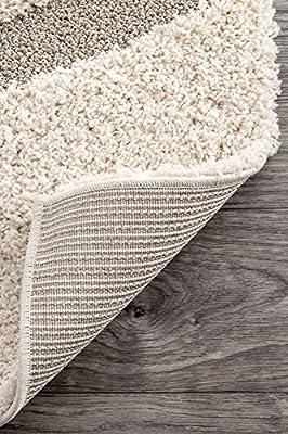 nuLOOM 200OZSG08A Machine Made Caroyln Area Rug, 10' x 14', Cream