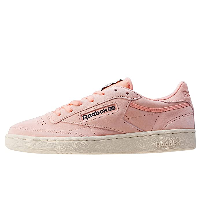43bcdbab8d3 Reebok Men s Club C 85 Pastels Trainers Desert Stone Pink Paperwhite 9 UK   Buy Online at Low Prices in India - Amazon.in
