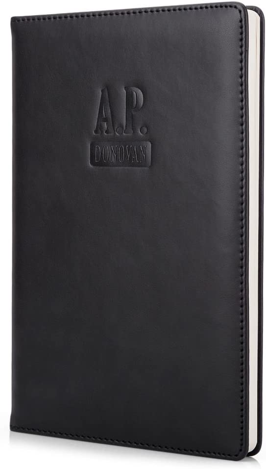 Ricettario Nero A5 Donovan A.P Ricettario libro vuoto per scrivere pulita Notepad in pelle Art A5 diario Guida di viaggio