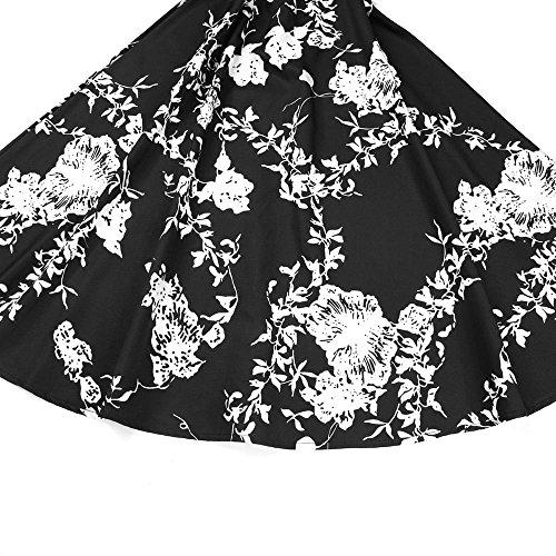Length Up for 41 Girls Maxi Black Dress Dresses Elegant 50S Retro Birdfly type Evening Women Knee Long Party q4Ewz4H