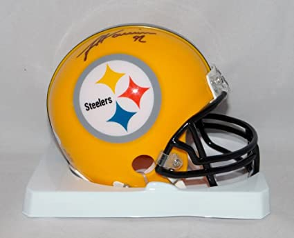 85bd8c8fc5f Image Unavailable. Image not available for. Color: James Harrison  Autographed Pittsburgh Steelers Yellow Mini Helmet ...