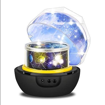 Diamante Giratorio Cosmos y proyector de Estrellas con 3 Modos y ...