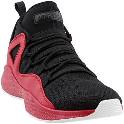 e35469c7492ba6 Nike Jordan Mens Jordan Formula 23 Black Black Gym Red White Basketball Shoe  10 Men