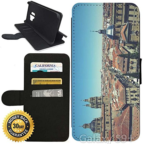 Flip Wallet Case for Galaxy S9 Plus (Old City of Salamanca) with Adjustable Stand and 3 Card Holders | Shock Protection | Lightweight | Includes Stylus Pen by Innosub