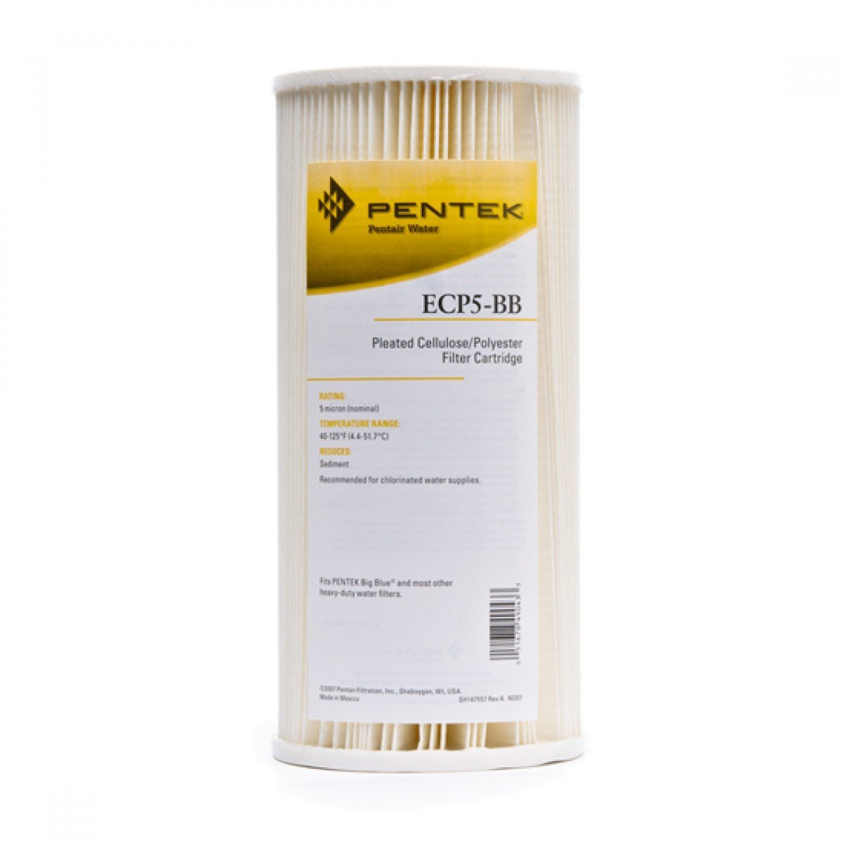 Pentek ECP5-BB Whole House Water Filter Replacement Cartridge, 1 Filter
