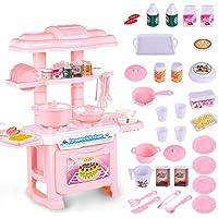 TONGSHAO Juegos para cocinar/Simulación de Cocina menaje Juguetes educativos para niños. Juego de Juguetes electrónicos de Cocina para niños. (Fen)
