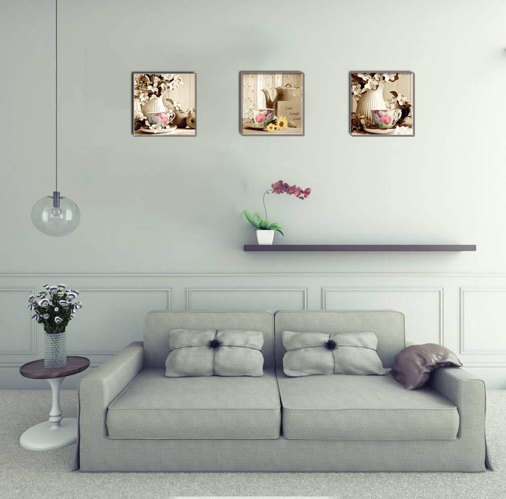 Piy Painting Cuadro en Lienzo en Taza de Cafe Retro Florero Elegante Pinturas murales Decoración Impresiones de Lienzo Sala de Estar Cocina Dormitorio ...
