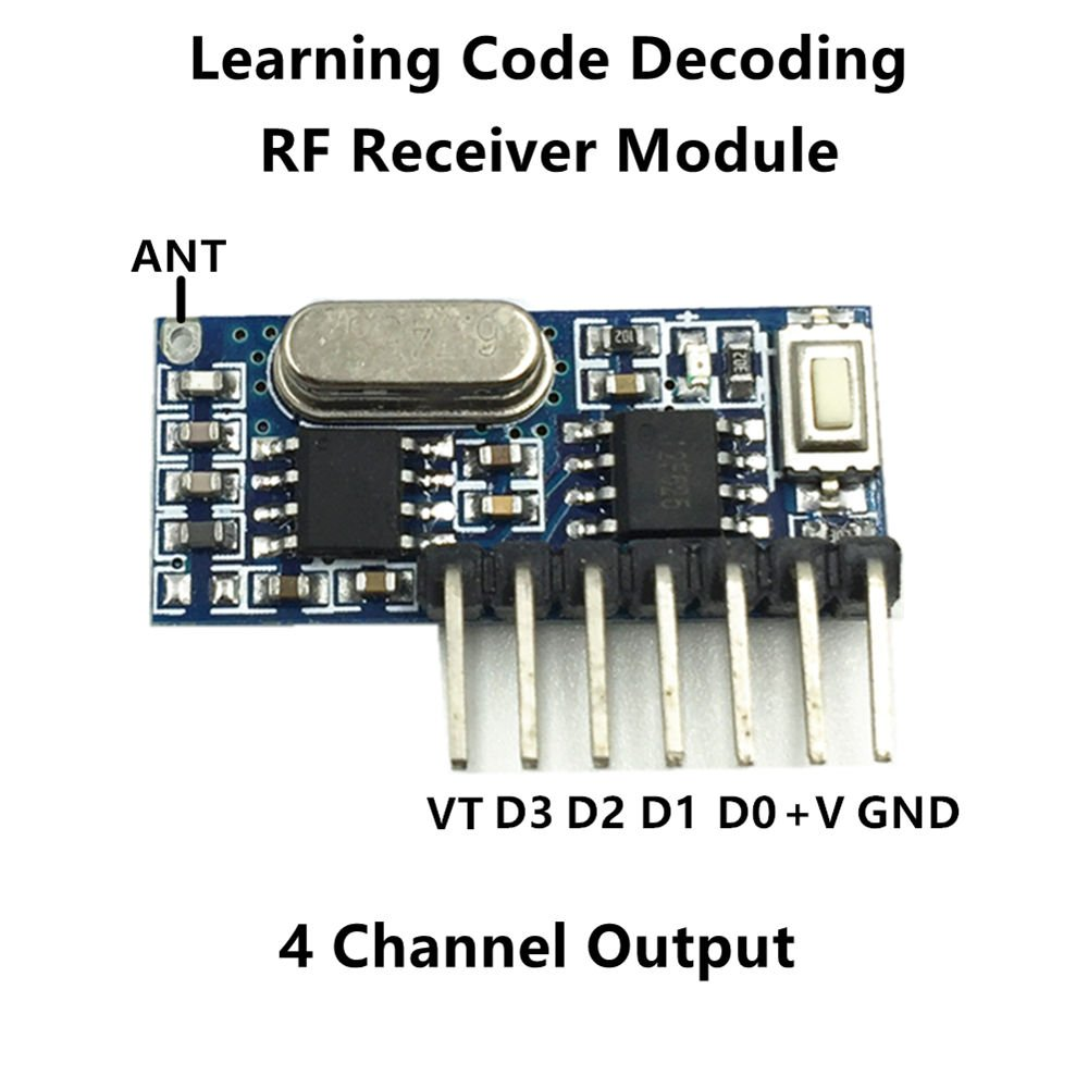 Qiachip Wireless 433mhz Rf Module Receiver And Transmitter Pair Operating At 433 Mhz Remote Control Built In Learning Code 1527 Decoding 4 Channel Output