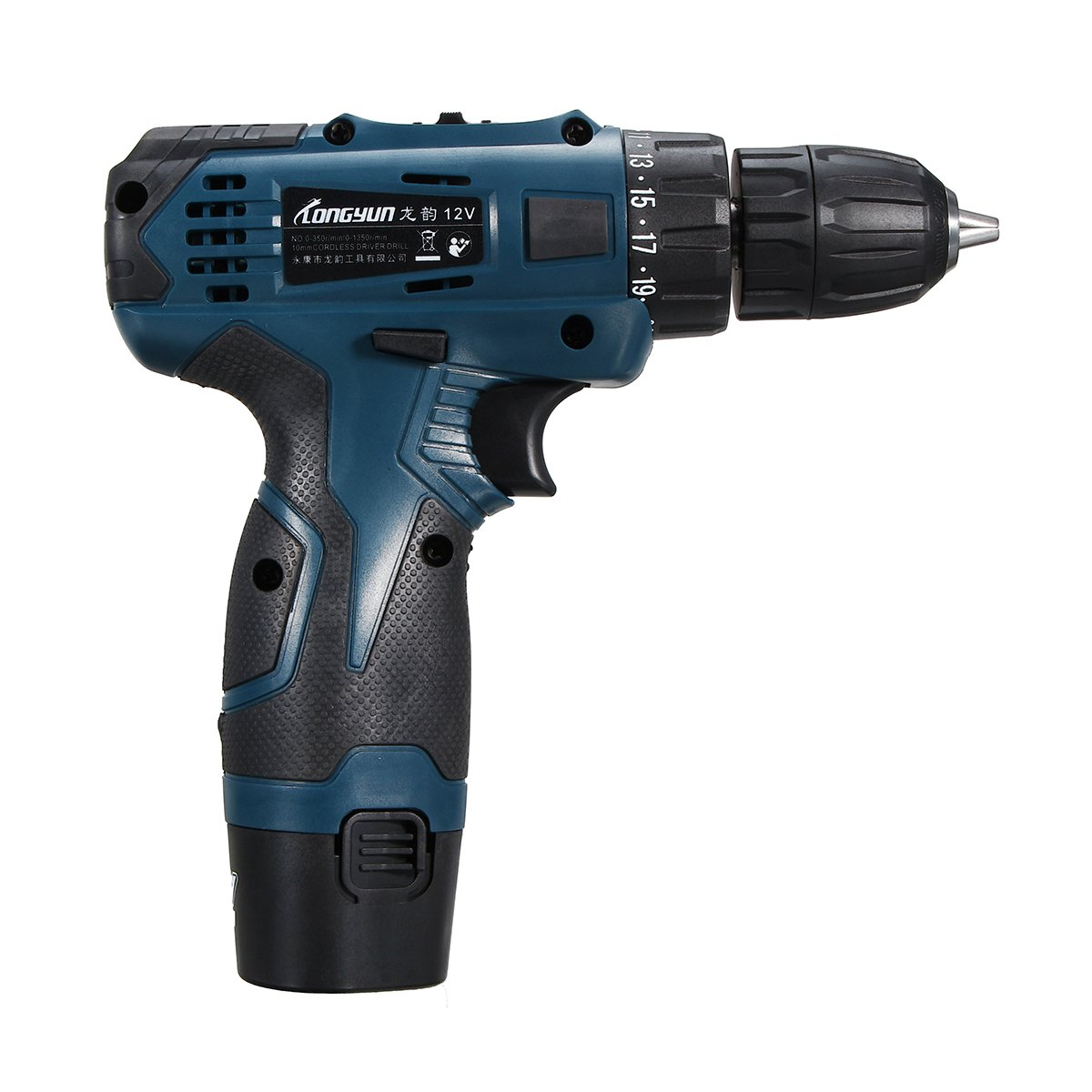 Farway Li-Ion Cordless Electric Hammer Drill 12V Driver Hand Kit 2 Speed LED